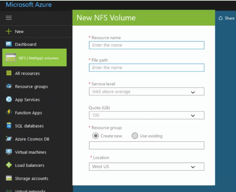 You heard it right NFS on Azure via NetApp #Azure #NetApp #NFSaaS