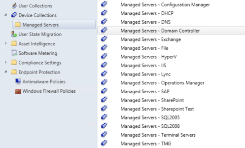 Server AntiVirus Exclusions in Configuration Manager