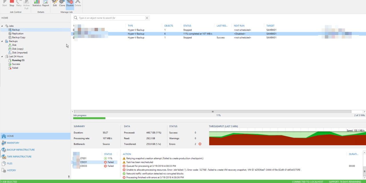 VEEAM TROUBLESHOOTING TIPS – ERROR CODE 32768 FAILED TO CREATE VM RECOVERY SNAPSHOT #VEEAM #MVPHOUR #WINDOWSSERVER