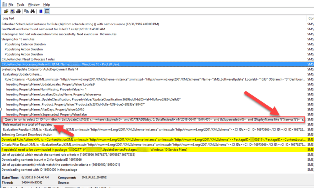 Windows 10 Servicing Plans – Running out of Space – Filtering Updates – Too many Languages #SCCM #ServcingPlans