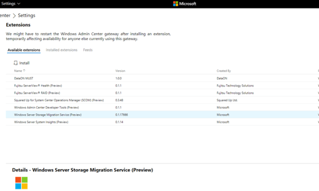 Installing the Storage Migration Service using Windows Admin Center #MVPHour