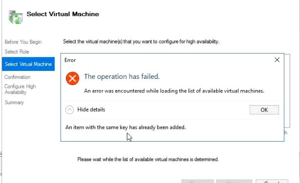 The Case of – Failed to unregister the virtual machine with the virtual machine management service Event ID 21502 #Veeam #Restore #S2D #StorageSpacesDirect