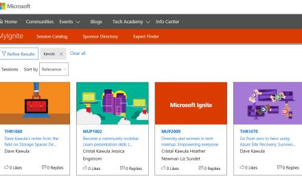 Session Catalog is live for Microsoft Ignite – .@MS_Ignite #MVPHour #TeamKawula