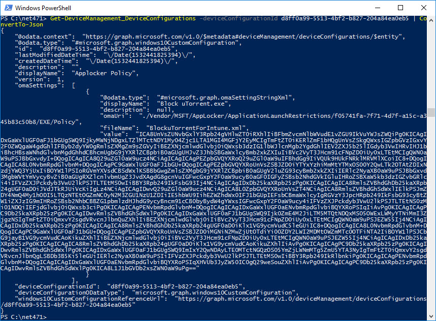 Introducing the Intune PowerShell SDK #Intune #PowerShell