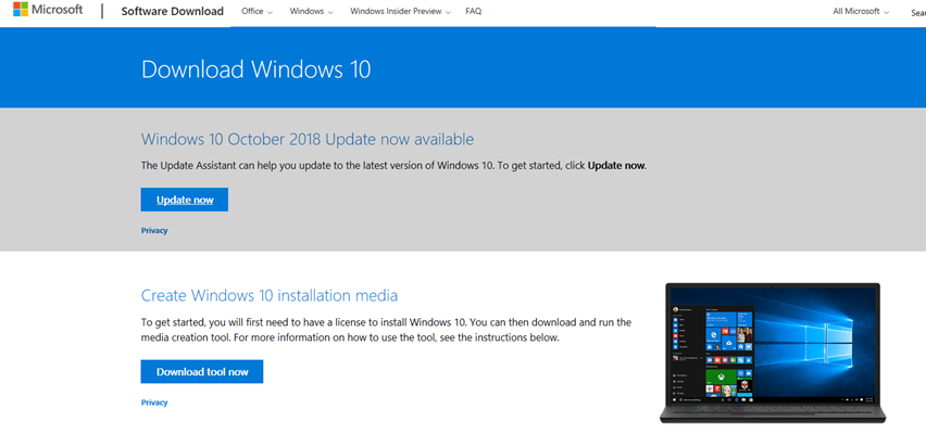 Finding the Windows 10 1809 Media and Upgrading – #Windows10