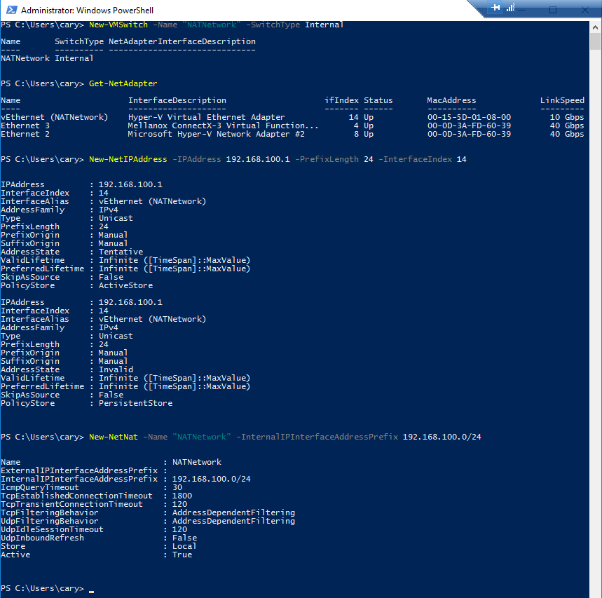 How to build Hyper-V nested VMs with multiple IP addresses Port