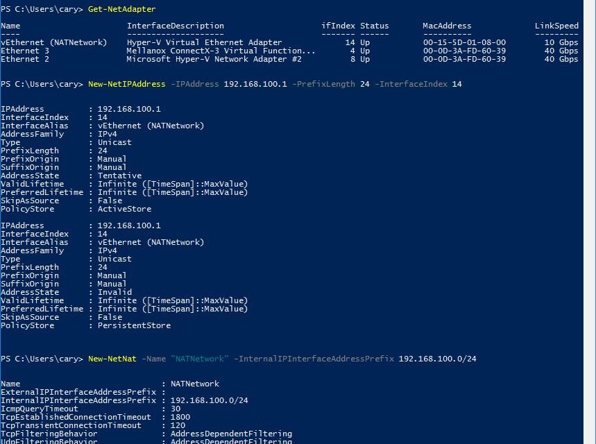 How to build Hyper-V nested VMs with multiple IP addresses