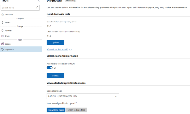 Automated SDDC Diagnostics via Windows Admin Center for #StorageSpacesDirect