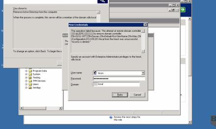 HOW to FIX Access Denied Error in Demote DC server #Active Directory #WINDOWSSERVER # #MVPHOUR