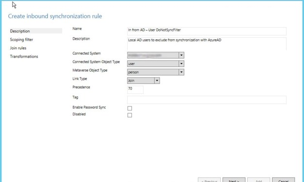 Filter Out Local AD Users to Not Sync with Azure AD