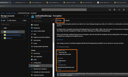 Using Azure Shell and want to encrypt with your own key? It's easy.
