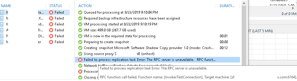 The Case of Failing Veeam Replicas – The RPC Function Call failed Function Name [InvokeTestConnection]