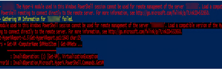 Troubleshooting Tips – Fixed Windows Server 2019 cannot run Hyper-V cmdlets against Windows Server 2012 R2 #PowerShell #Hyper-V #Server 2019 #Reports #Mvphour