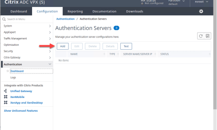 How to Configure the Microsoft Active Directory Domain Controller as Authentication Server at Citrix ADC