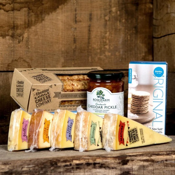 Five Cheese Selection With Cheese Straws
