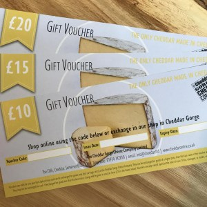 Cheddar Gorge Cheese Company Gift Voucher