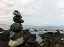 Stacked Rocks at Wailea Beach