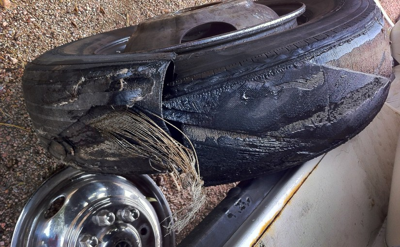 RV Flat Tire Roadside Fall Out Plan