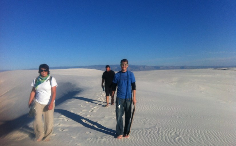 White Sands NM, Slide the Dunes
