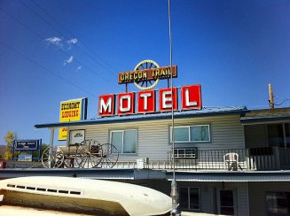 Oregon Trail Motel - taken from our roof. OR
