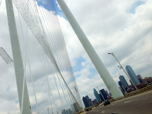 The Margaret Hunt Hill Bridge in Dallas, TX.