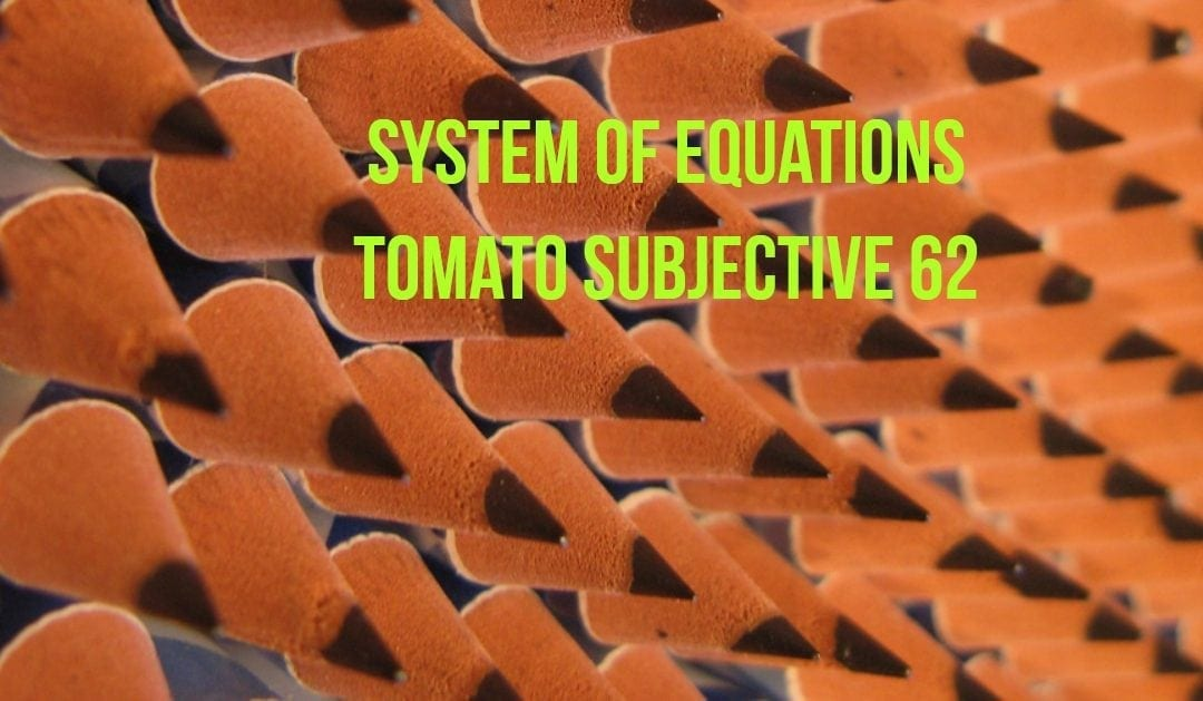 Test of Mathematics Solution Subjective 62 – System of Equations