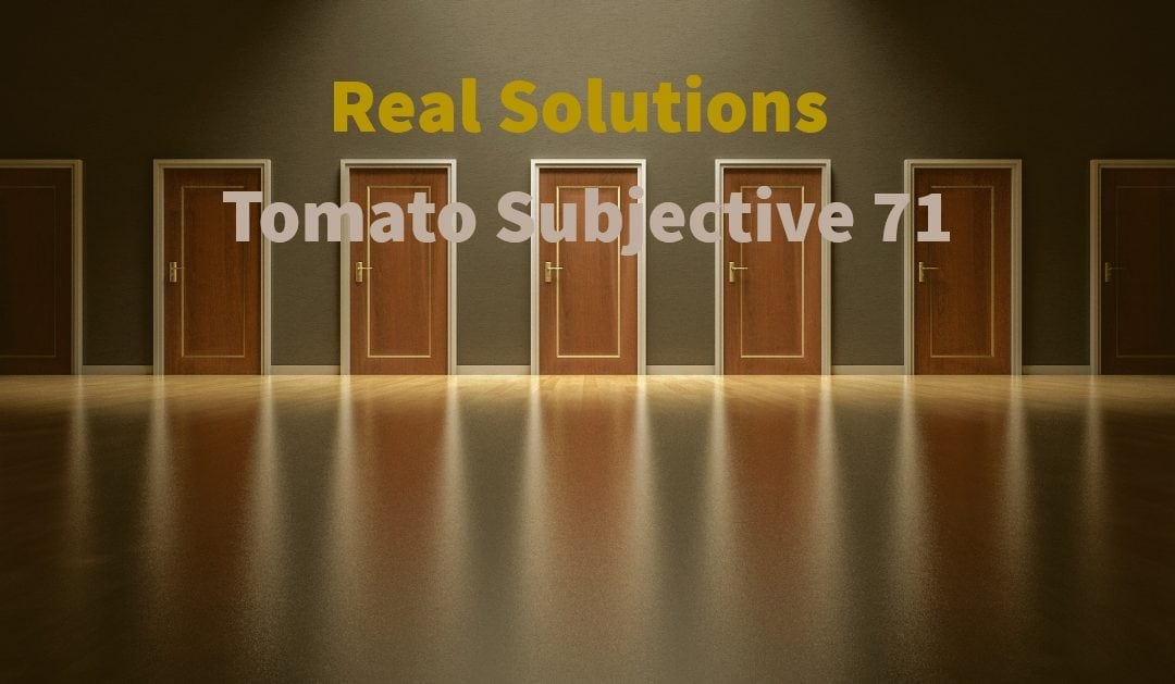 Test of Mathematics Solution Subjective 71 – Real solutions