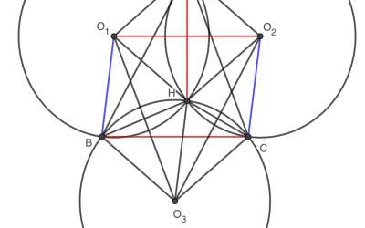 Orthocenter and equal circles