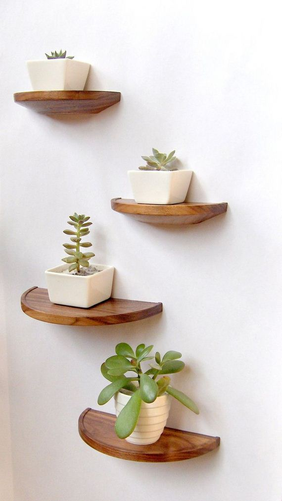 Small Half Round Shelves