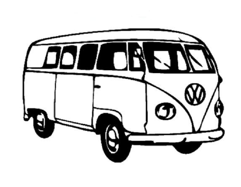 Pin Up Girl Vw Bus