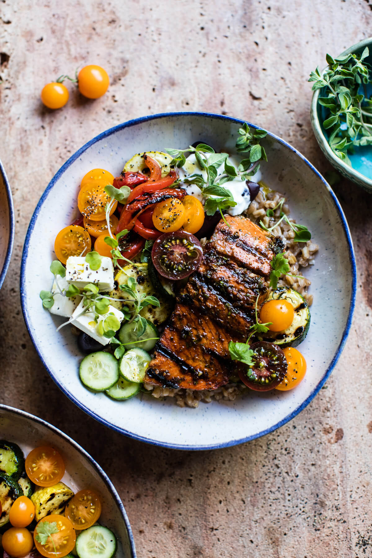 Eating Clean | Chef & Shower Recipes | salmon souvlaki bowl