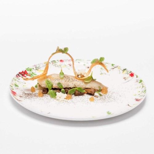 Finanziera di lumache con gallinella di mare, melissa, cialda croccante e Perle delle Madonie