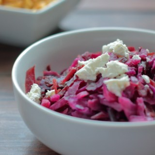 Braised Red Cabbage with Goat Cheese