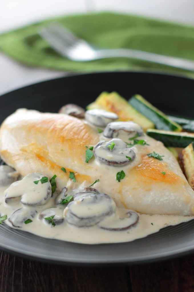 Rich and earthy, this Creamy Mushroom Sauce is just the thing to fancy up those chicken breasts that are gazing up at you balefully from the kitchen counter.