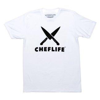 Chef Life Logo tshirt white