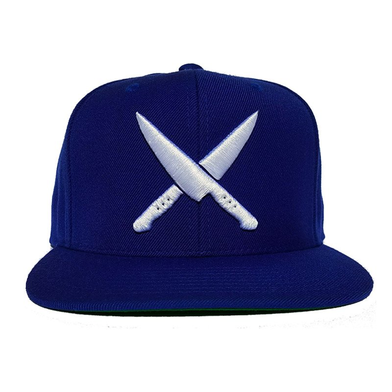 2 knives crew royal blue snapback