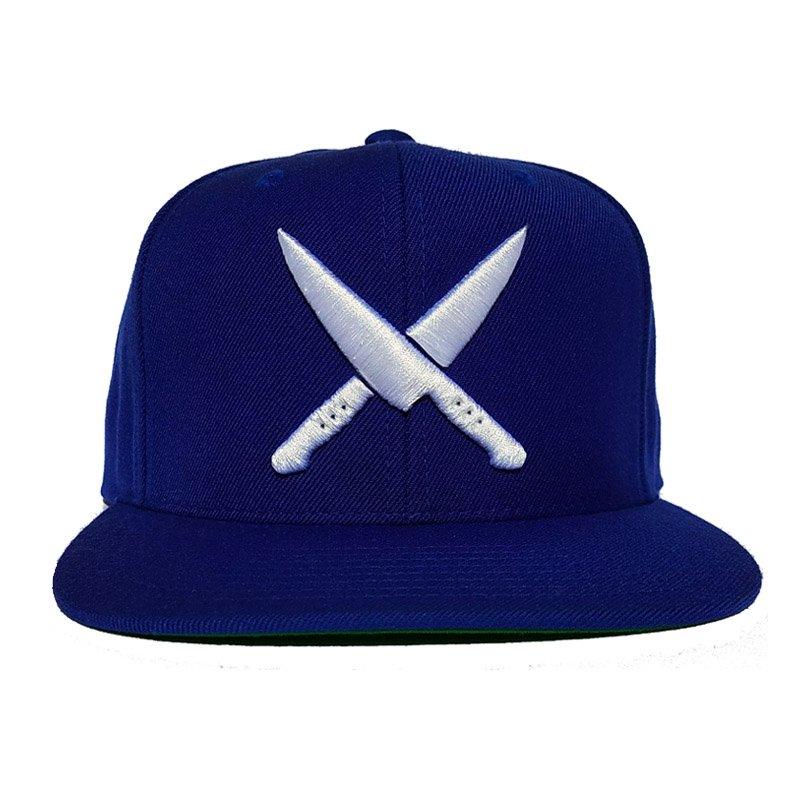 2 knives crew royal blue snapback
