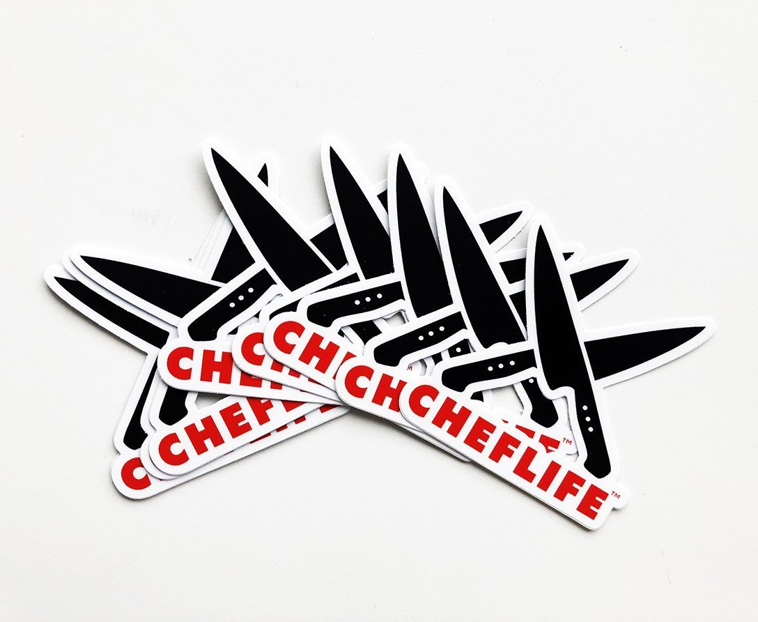 Chef life logo sticker
