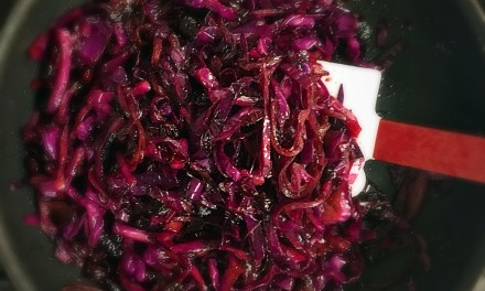 Spiced Sautéed Red Cabbage with Cherries