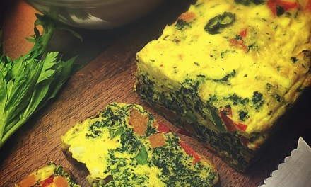 Kale, red bell pepper, feta and roasted squash loaf