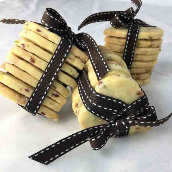 melt and mix shortbread cookies - edible gifts white chocolate cranberry pistachio melt mix shortbread cookies christmas
