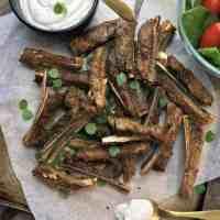 Oven Roasted Lamb Ribs with Yoghurt Mint & Garlic Sauce