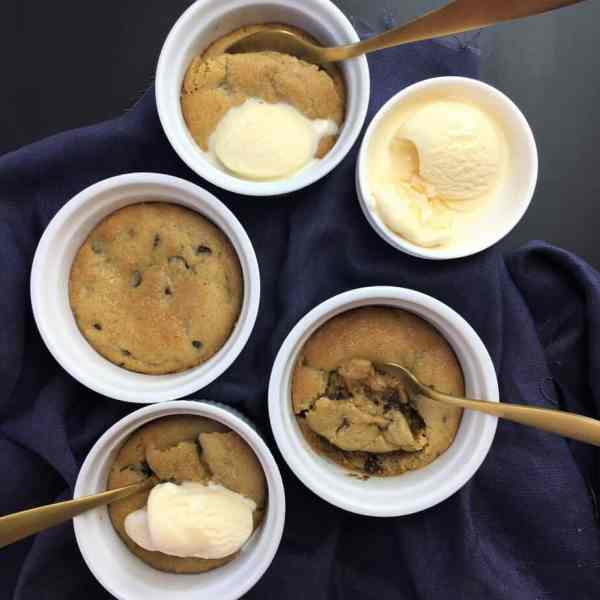 Half Baked Cookie Dough Pots - the ultimate comfort dessert