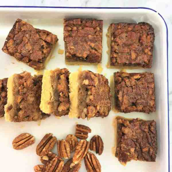 Butter pecan slice - melt & mix - quick & easy