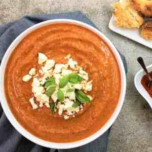 Smoky capsicum & almond romesco sauce - spicy & smoky capsicum sauce