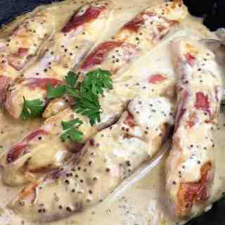 Chicken with whole grain mustard cream sauce - your new favorite cream sauce