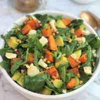 Pumpkin Avocado Feta Salad