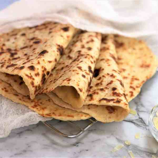 soft parmesan flatbread (no yeast) done in 20 minutes