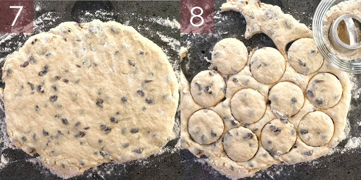 images showing how to make sultana scones