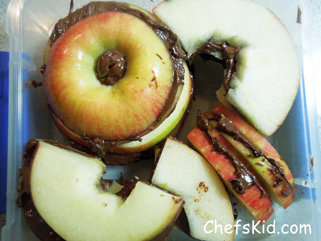 Apple and Nutella Sandwich from ChefsKid.com